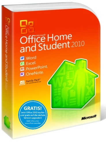 microsoft office home and student 2010 vollversion 3 pc ebay. Black Bedroom Furniture Sets. Home Design Ideas