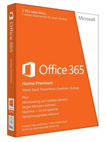 microsoft office 365 home premium f r 5 pc mac 1 jahres. Black Bedroom Furniture Sets. Home Design Ideas